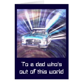 Cruisin' the Galaxy Greeting Card