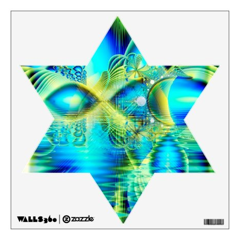 Crystal Lime Turquoise Heart of Love, Abstract Wall Decal