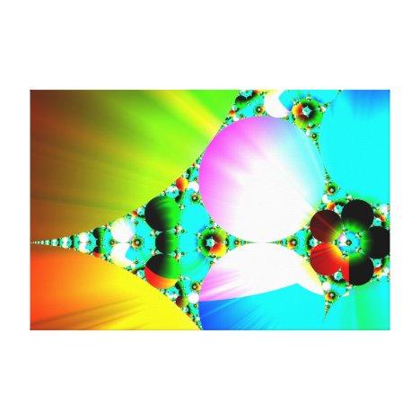 Crystal Sunrise - Abstract Fractal Rainbow Canvas Print