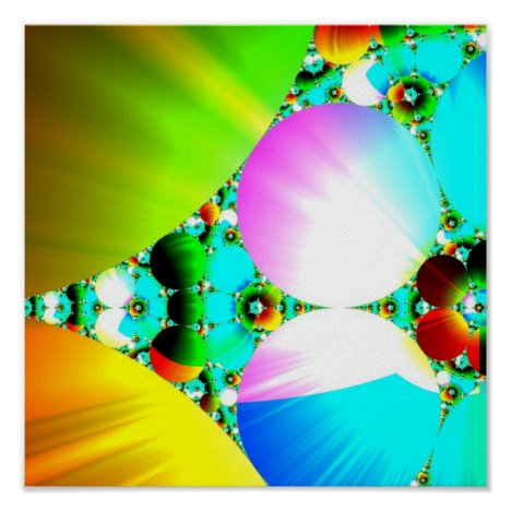 Crystal Sunrise - Abstract Fractal Rainbow Poster