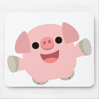Cuddly Cartoon Pig mousepad mousepad