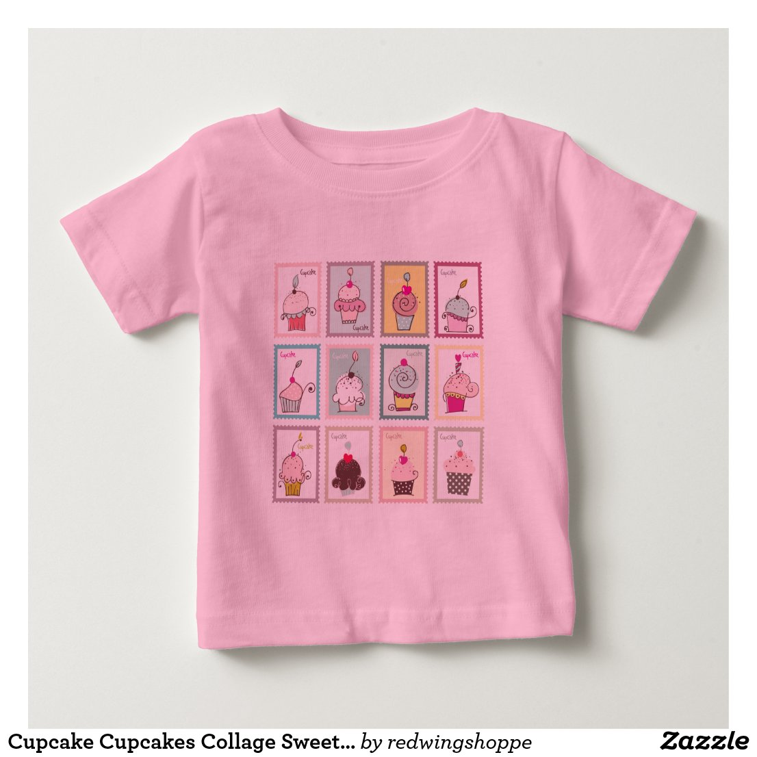 Cupcake Cupcakes Collage Sweet Desserts Snack Love Baby T-Shirt