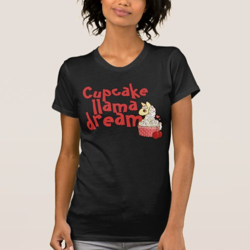 Cupcake Llama Pajama Top