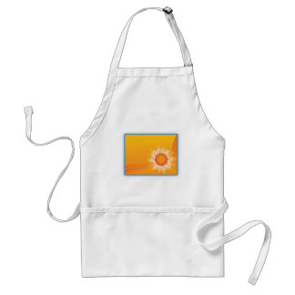 Curly Sunshine Customizable Design Apron