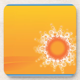 Curly Sunshine Customizable Design Drink Coasters