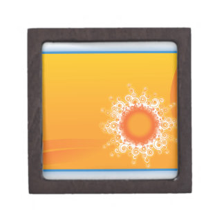 Curly Sunshine Customizable Design Premium Keepsake Boxes