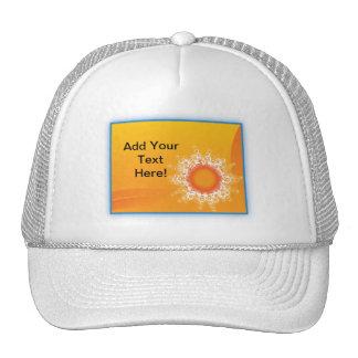 Curly Sunshine Customizable Design Trucker Hat