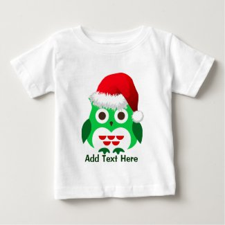 Custom Christmas Owl Baby T-Shirt