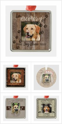 Custom Dog Memorial Keepsake Ornaments
