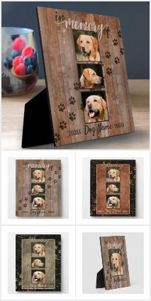 Custom Dog Memorial Keepsake Plaques