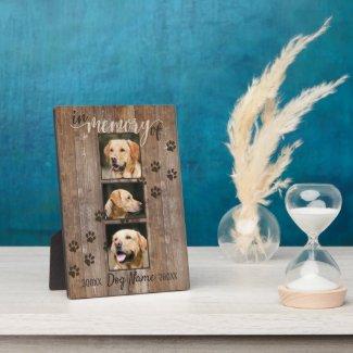 Custom Dog Memorial Rustic Wood Look Plaque