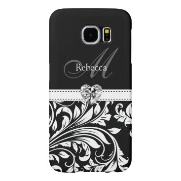 Custom Elegant Black and White Damask Samsung Galaxy S6 Case