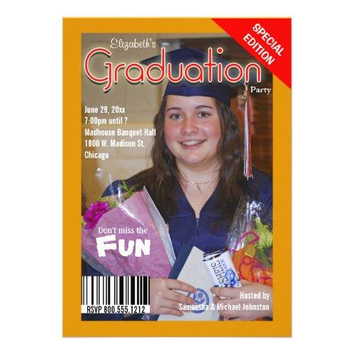 Custom Magazine Style Graduation Party Invite