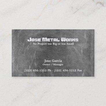 Custom Metal Works Business Card