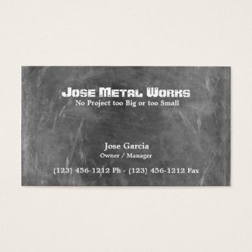 Custom Metal Works Business Card