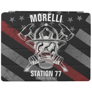 Custom NAME Firefighter Fire Department Station iPad Smart Cover
