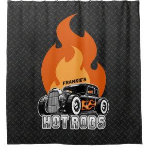 hot rod shower curtains zazzle