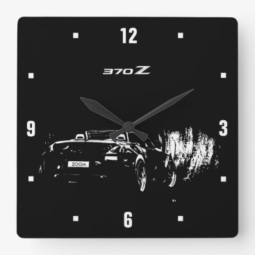 Custom Nissan 370Z Roadster (add your text) Square Wall Clock