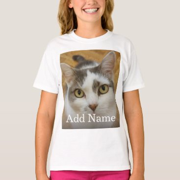 Custom Photo Name Text Personalized T-Shirt