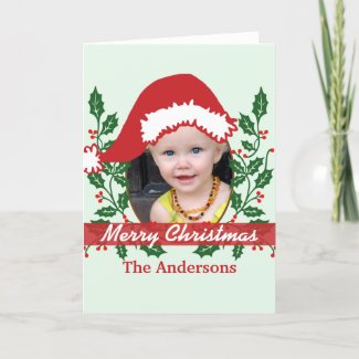 Custom Santa Hat to Personalize Holiday Card
