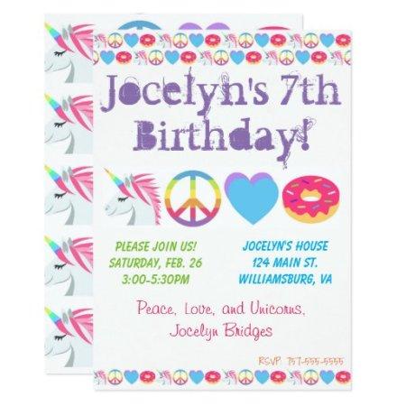 Customizable Emoji Birthday Invitation