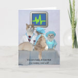 Funny Cats & Kittens Surgery Get Well Card