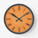 Customizable Roman Numeral Round Clock