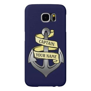 Customizable Ship Captain Your Name Anchor Samsung Galaxy S6 Case