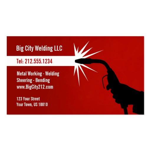 Welding Business Card Templates BizCardStudio