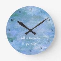 Customize Your Round Clock