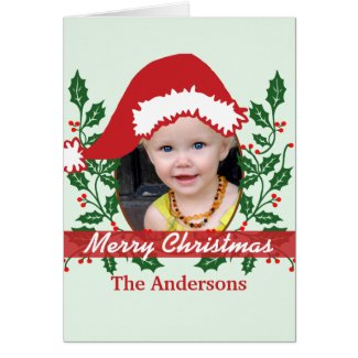 Custum Santa Hat to Personalize Greeting Cards