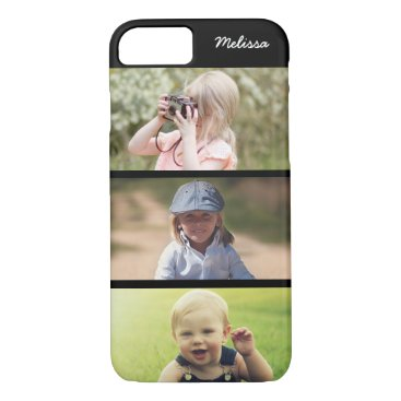 Cute 3 Photo Personalized Kids iPhone 8 7 Case