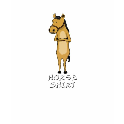 Cute and funny horse shirt (dark colors) shirt