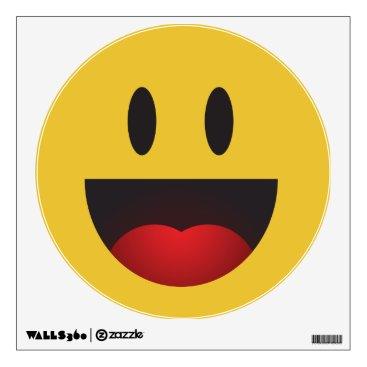 Cute and Funny Laughing Yah emoji Wall Decal