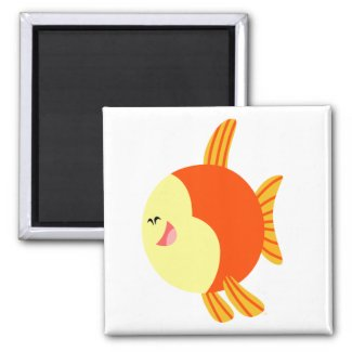Cute and Plump Cartoon Fish Magnet magnet