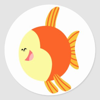 Cute and Plump Cartoon Fish Sticker sticker