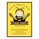Cute Baby Bumble Bee Honey Bee Baby Shower Invitation