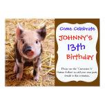 Cute Baby Piglet Farm Animals Babies Invitation
