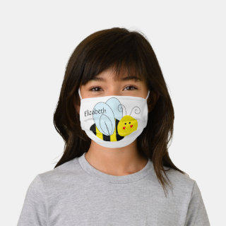 Cute Bee Personalized Kids' Cloth Face Mask