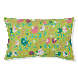 Cute Bird Pattern One Small Dog Bed