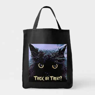 Cute Black Cat Halloween Trick or Treat Bag