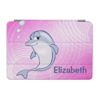 Cute Blue Dolphin To Personalize iPad Mini Cover