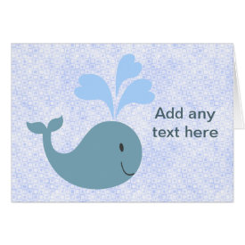 Cute Blue Whales Add Your Text Card
