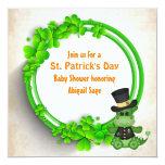 Cute Boy Dragon St Patrick's Day Irish Baby Shower Invitation
