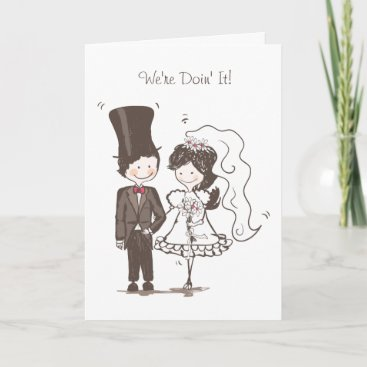 Cute Bride & Groom Wedding Invitation