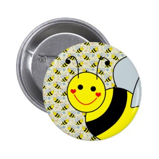 Cute Bumble Bee Button