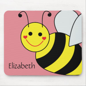 Cute Bumble Bee Personalized Mouse Pad