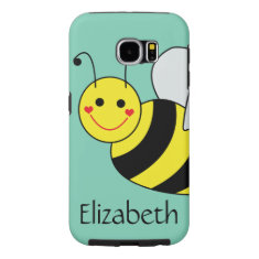 Cute Bumble Bee Personalized Samsung Galaxy S6 Case