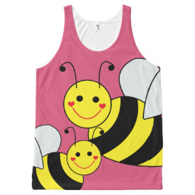 Cute Bumble Bees All-Over Print Tank Top