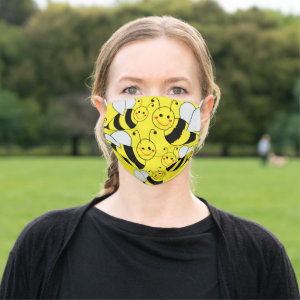 Cute Bumble Bees Yellow Cloth Face Mask
